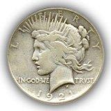 1921 Peace Silver Dollar Fine Condition