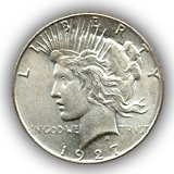 1927 Peace Silver Dollar Uncirculated Condition