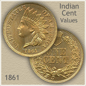 Uncirculated 1861 Indian Head Penny