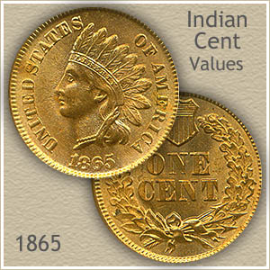 Uncirculated 1865 Indian Head Penny