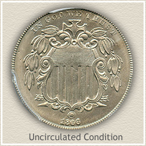 1866 Nickel Uncirculated Condition