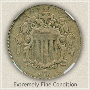 1866 Nickel Extremely Fine Condition