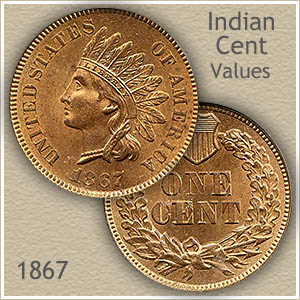 Uncirculated 1867 Indian Head Penny