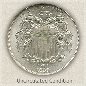 1869 Nickel Uncirculated Condition