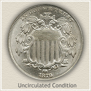 1870 Nickel Uncirculated Condition