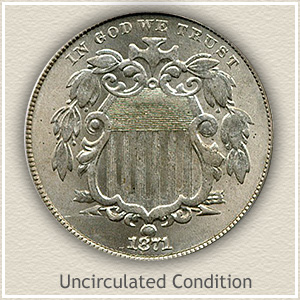1871 Nickel Uncirculated Condition