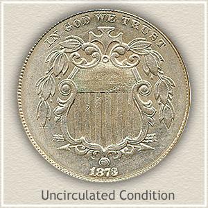 1873 Nickel Uncirculated Condition