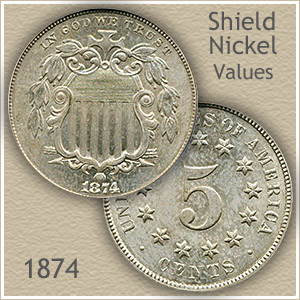 Uncirculated 1874 Nickel Value