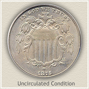 1875 Nickel Uncirculated Condition