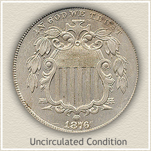 1876 Nickel Uncirculated Condition