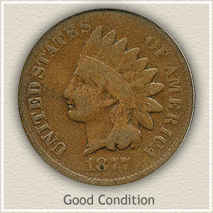 1877 Indian Head Penny Good Condition