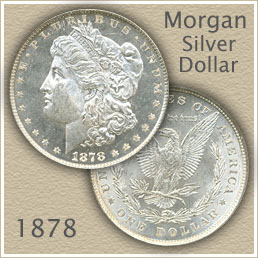 Uncirculated 1878 Morgan Silver Dollar Value