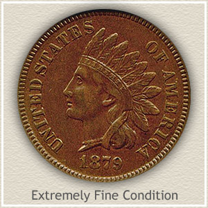 1879 Indian Head Penny Extremely Fine Condition