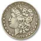 1879 Morgan Silver Dollar Fine Condition