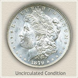 1879 Morgan Silver Dollar Uncirculated Condition