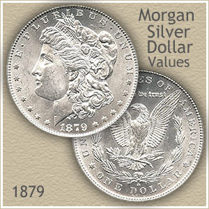 Uncirculated 1879 Morgan Silver Dollar Value