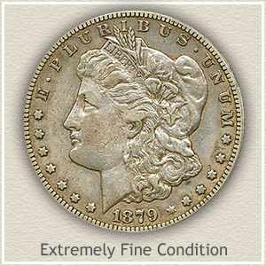 1879 Morgan Silver Dollar Extremely Fine Condition