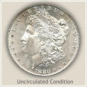 1880 Morgan Silver Dollar Uncirculated Condition