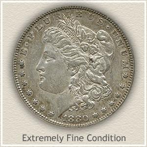 1880 Morgan Silver Dollar Extremely Fine Condition