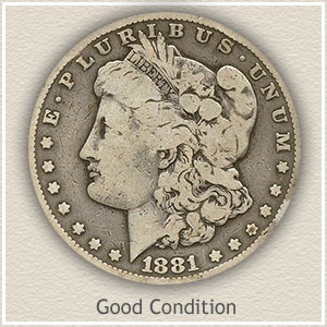 1881 Morgan Silver Dollar Good Condition