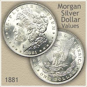 Uncirculated 1881 Morgan Silver Dollar Value