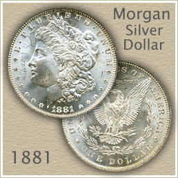 Uncirculated 1881 Morgan Silver Dollar Value