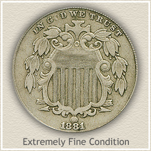 1881 Shield Nickel | Extremely Fine Condition