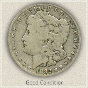 1882 Morgan Silver Dollar Good Condition