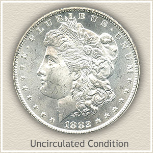 1882 Morgan Silver Dollar Uncirculated Condition