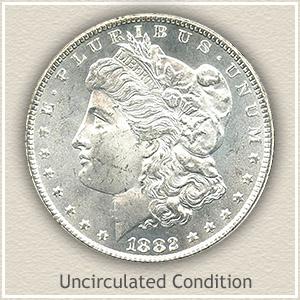 1882 Morgan Silver Dollar Uncirculated Condition