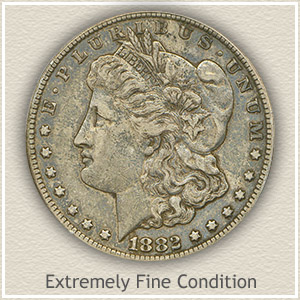 1882 Morgan Silver Dollar Extremely Fine Condition