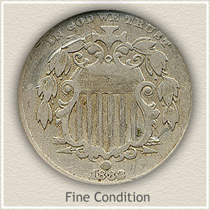 1882 Nickel Fine Condition