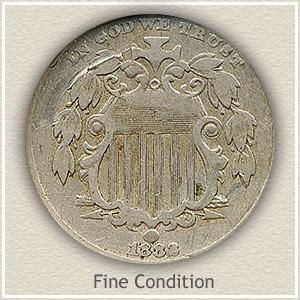 1882 Nickel Fine Condition