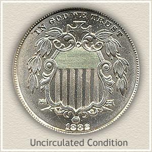 1882 Nickel Uncirculated Condition