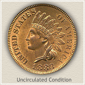 1883 Indian Head Penny Uncirculated Condition