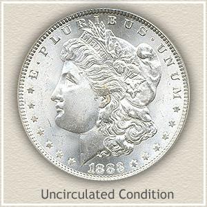 1883 Morgan Silver Dollar Uncirculated Condition