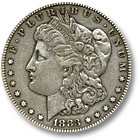 1883 Morgan Silver Dollar Extremely Fine Condition