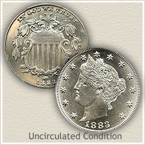 1883 Nickel Uncirculated Condition