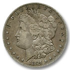 1884 Morgan Silver Dollar Fine Condition