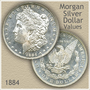 Uncirculated 1884 Morgan Silver Dollar Value