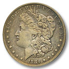 1884 Morgan Silver Dollar Extremely Fine Condition