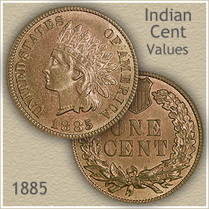 Uncirculated 1885 Indian Head Penny