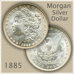 Uncirculated 1885 Morgan Silver Dollar Value