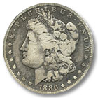 1886 Morgan Silver Dollar Fine Condition