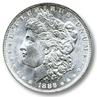 1886 Morgan Silver Dollar Uncirculated Condition