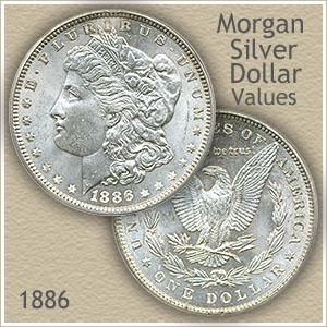 Uncirculated 1886 Morgan Silver Dollar Value