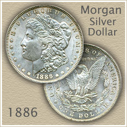 Uncirculated 1886 Morgan Silver Dollar Value