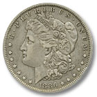 1886 Morgan Silver Dollar Extremely Fine Condition