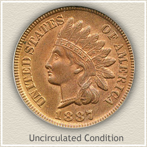 1887 Indian Head Penny Uncirculated Condition