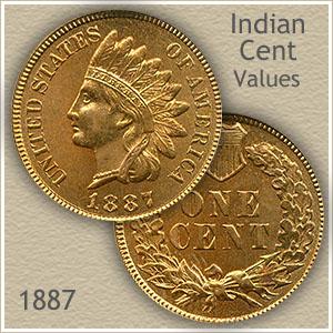 Uncirculated 1887 Indian Head Penny
